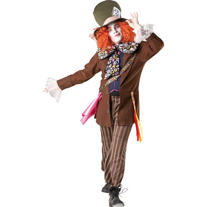 Man in Mad Hatter fancy dress costume