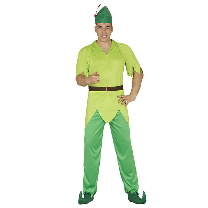 Man in Peter Pan fancy dress costume
