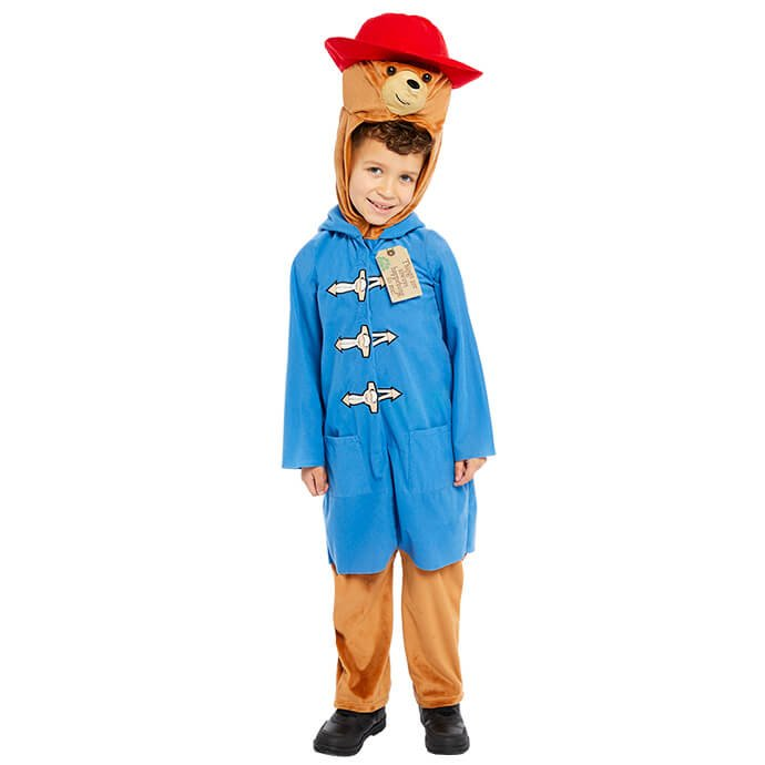 Boy in Paddington Bear fancy dress costume