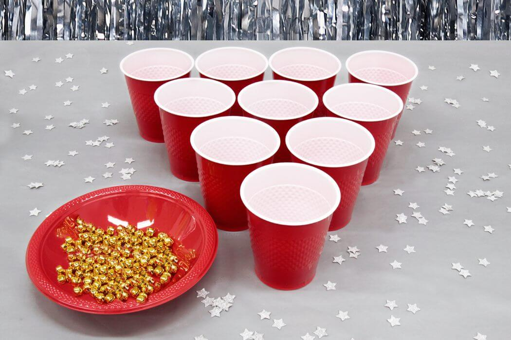 Jingle bell toss Christmas game for parties