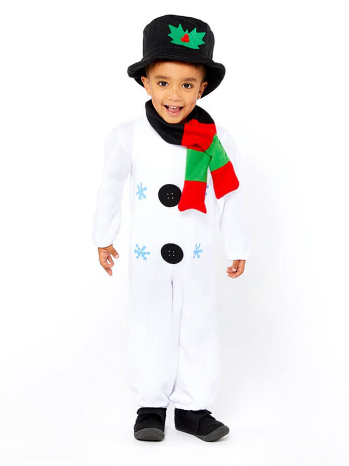 Snowman fancy dress outfits for children