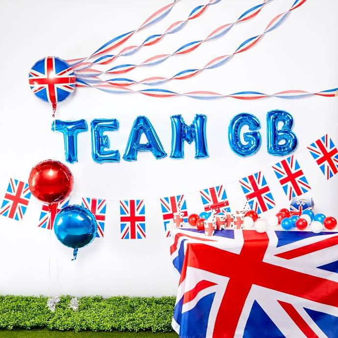 Team GB Union Jack flag and bunting