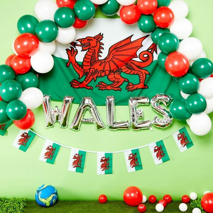 Wales flag and bunting